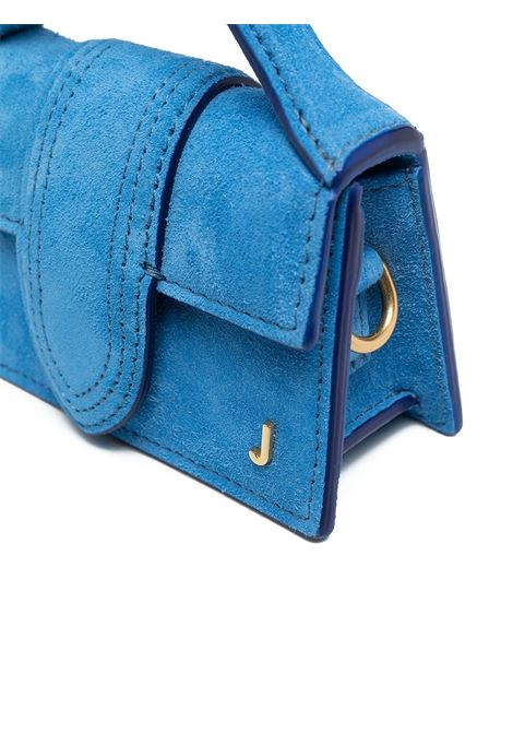 Borsa tote Le petit Bambino in camoscio azzurro  con logo Jacquemus color oro JACQUEMUS | Borse a tracolla | 211BA06-310310