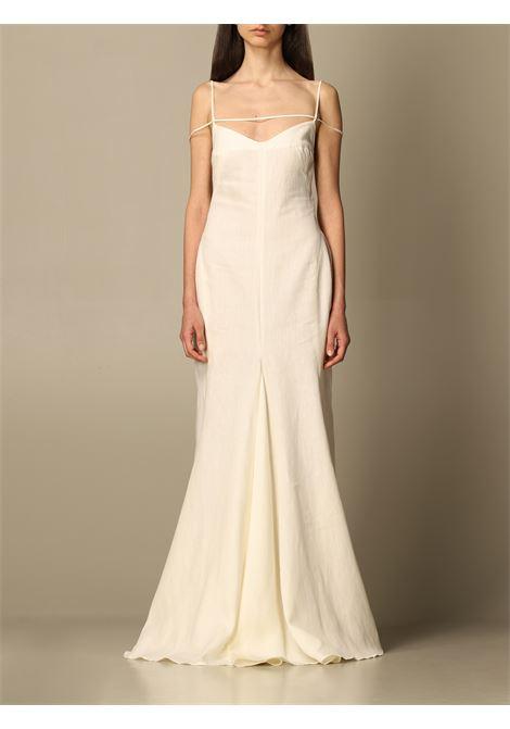 Cream linen La Robe Camargue dress  JACQUEMUS |  | 211DR20-101110