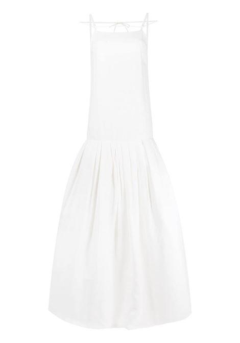 White cotton La robe Amour spaghetti-strap drop-waist dress  JACQUEMUS |  | 211DR23-108114