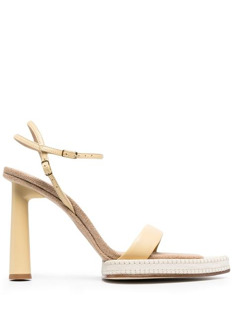 Sand-brown calf leather Les sandales Novio sandals featuring pointed toe JACQUEMUS |  | 211FO11-401220