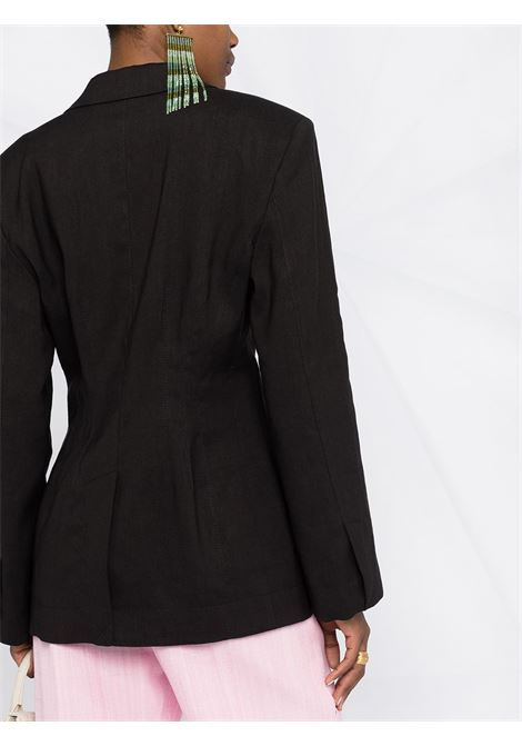 Black virgin wool and cotton La veste Novio single-breasted blazer  JACQUEMUS |  | 211JA02-103990