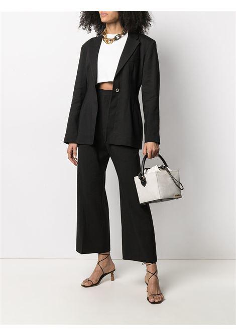 Pantaloni neri Le Pantalon Santon in cotone e lana vergine con vita alta JACQUEMUS | Pantaloni | 211PA02-103990
