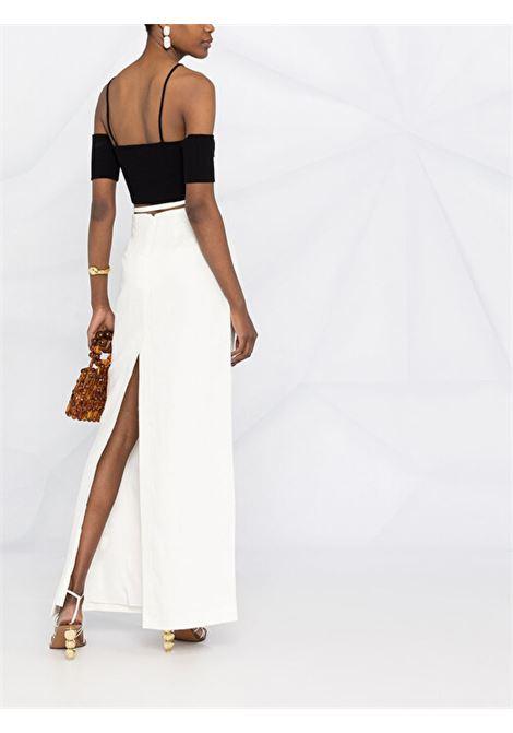 Ecru linen thong-strap maxi skirt  JACQUEMUS |  | 211SK02-108114