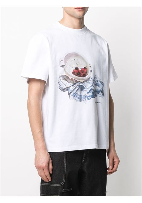 White cotton graphic print short-sleeved T-shirt   JACQUEMUS |  | 215JS09-22501F
