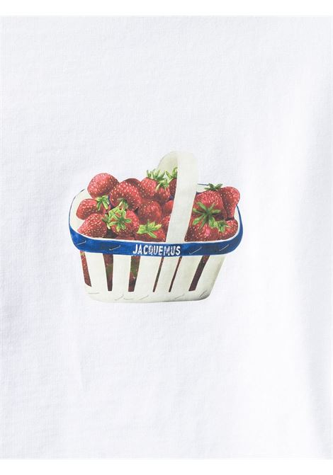 T-shirt stampata Le T-shirt Fraises in cotone bianco JACQUEMUS | T-shirt | 215JS10-22401B
