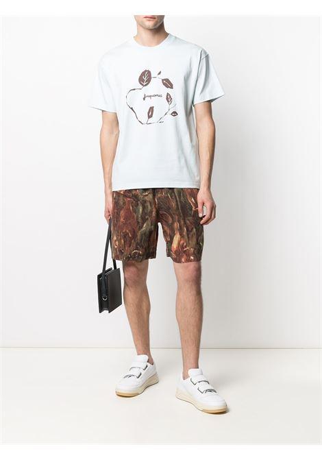 T-shirt a maniche corte con stampa grafica in cotone azzurro JACQUEMUS | T-shirt | 215JS12-22403L