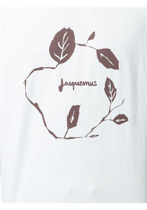 Pale blue cotton graphic print short-sleeved T-shirt  JACQUEMUS |  | 215JS12-22403L