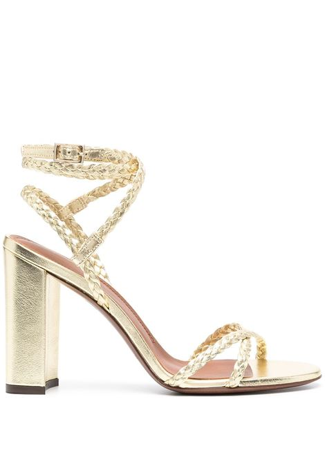 Gold leather metallic braided-strap sandals featuring metallic finish L'AUTRE CHOSE |  | LDN042.95CP29145003