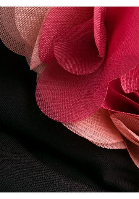 Bikini monospalla nero Adele con volant rosa. LA REVECHE | Costumi | ADELE ONE SHOULDERBLACK