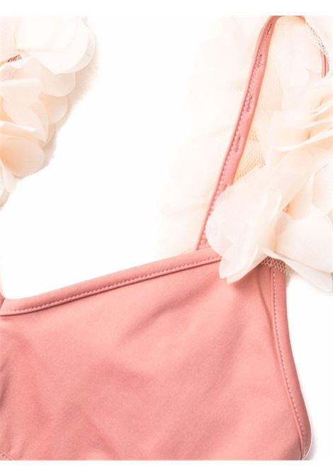 Bikini rosa antico Aisha con dettaglio floreale bianco LA REVECHE | Costumi | AISHA HWOLD ROSE