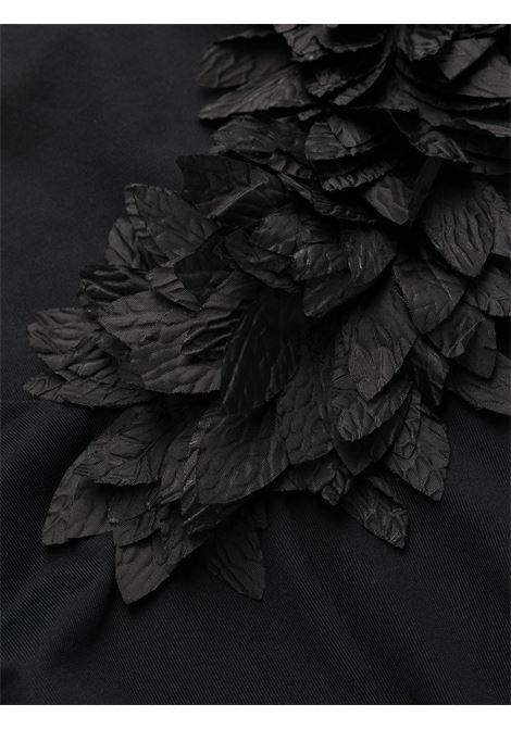 Costume monospalla nero Assuan con applicazioni floreali nere LA REVECHE | Costumi | ASSUANBLACK
