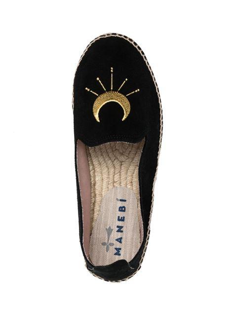 Black and gold leather and jute Palm Springs espadrilles MANEBI' |  | F65D0-PALM SPRINGSBLACK+GOLDEN EYE