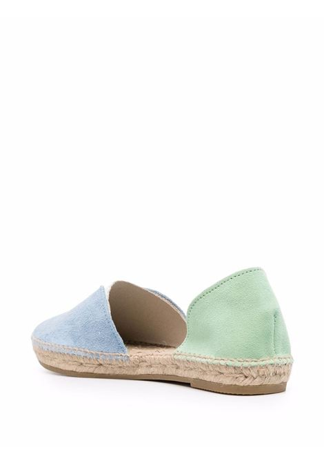 Blue and green leather and suede Venice espadrilles  MANEBI' |  | G23O0-VENICEPLACID BLUE+MINT