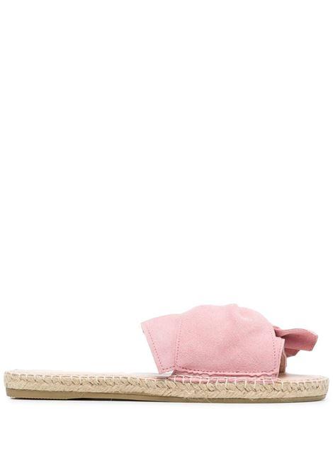 Pastel rose leather and suede twist-front espadrilles  MANEBI' |  | M14JK-HAMPTONSPASTEL ROSE