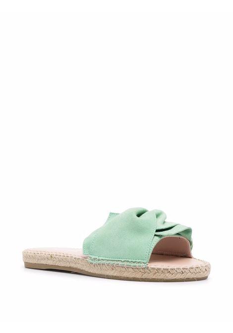 Mint-green leather knotted suede sandals  MANEBI' |  | R07JK-HAMPTONSMINT