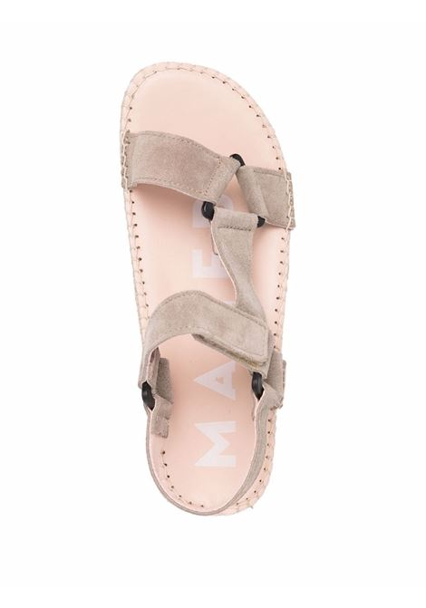 Brown leather and suede Hamptons Vintage espadrille sandals  MANEBI' |  | W19JH-HAMPTONSVINTAGE TAUPE