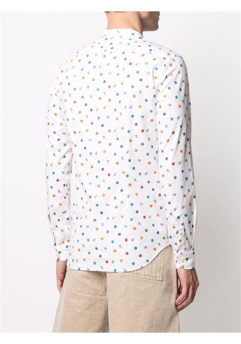 camicia senza collo a pois in cotone multicolore MANUEL RITZ | Camicie | 3032E604L-21325102