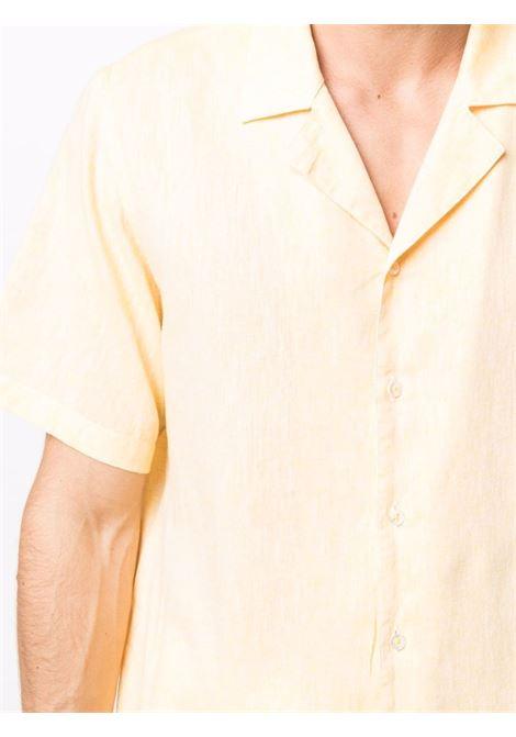 Camicia gialla in lino e cotone lavato MANUEL RITZ   Camicie   3032E607L-21323705