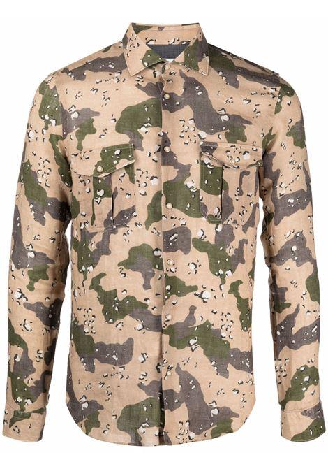 camouflage linen shirt featuring classic collar MANUEL RITZ |  | 3032E608L-21325427