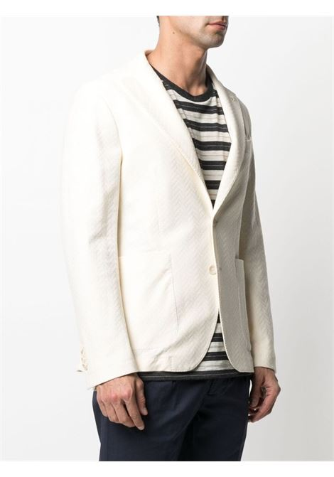 Cream cotton-blend zigzag-textured blazer  MANUEL RITZ |  | 3032G2728M-21318803