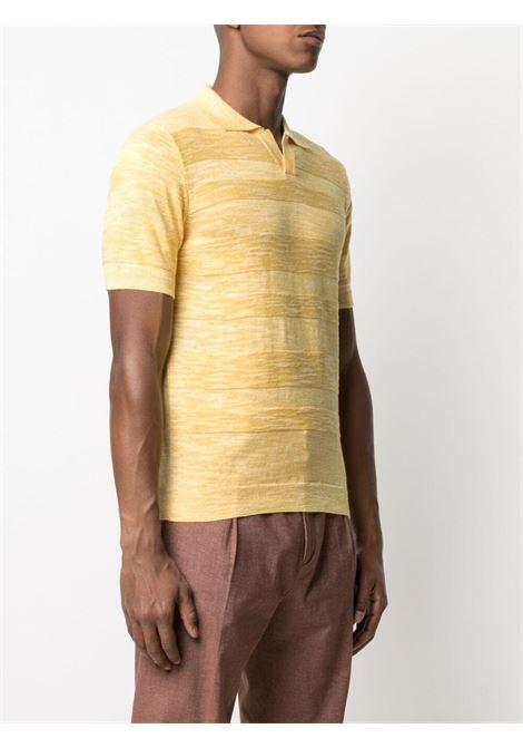 Polo in maglia fine di cotone giallo MANUEL RITZ | Polo | 3032M503-21331706