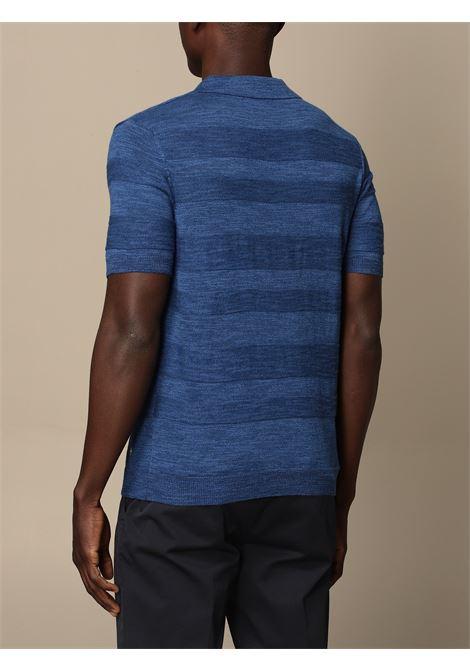 Polo in maglia fine di cotone blu royal MANUEL RITZ | Polo | 3032M503-21331788