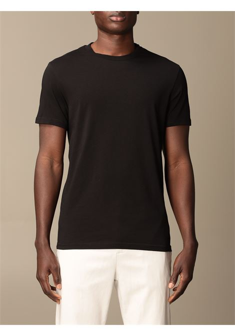 T-shirt basic in cotone nero con scollo tondo MANUEL RITZ | T-shirt | 3032M550-21329199