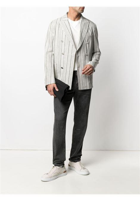White cotton basic T-shirt featuring stretch-design MANUEL RITZ      3032M561T-21330403