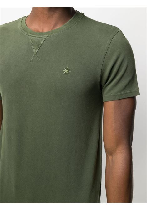 Military green cotton embroidered-logo T-shirt  MANUEL RITZ |  | 3032M561T-21330439