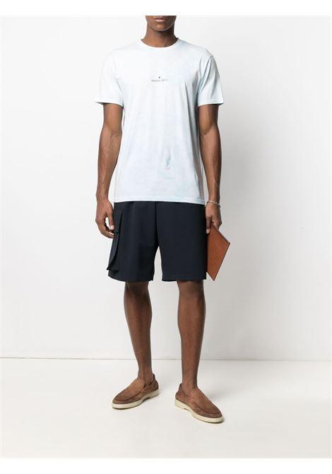 Light blue cotton T-shirt featuring round neck MANUEL RITZ      3032M569T-21331182