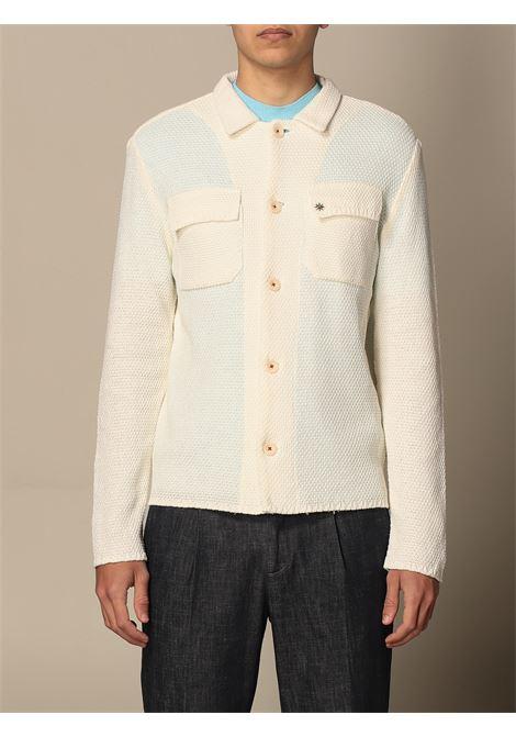 white cotton button-down shirt jacket  MANUEL RITZ |  | 3032M591-21330321