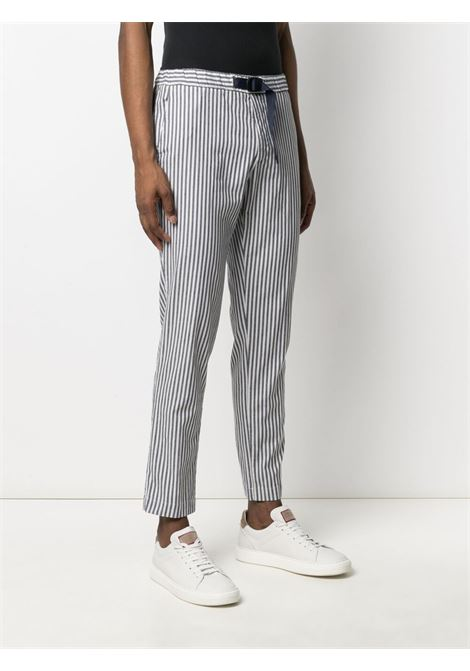 Navy blue and white cotton striped straight-leg trousers MANUEL RITZ |  | 3032P1618L-21302189