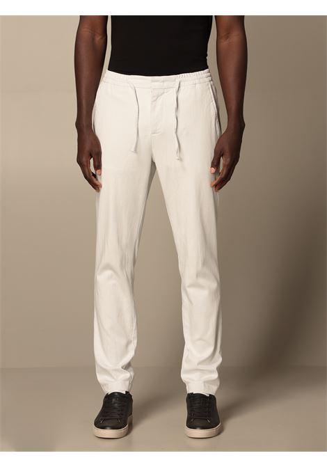 Off white cotton straight-leg trousers MANUEL RITZ |  | 3032P1688T-21300602