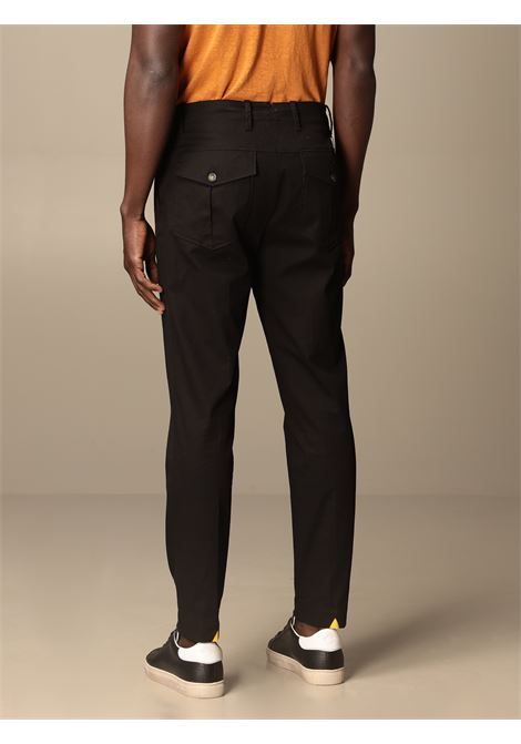 Black cotton mid-rise tapered trousers  MANUEL RITZ |  | 3032P1878L-21000299