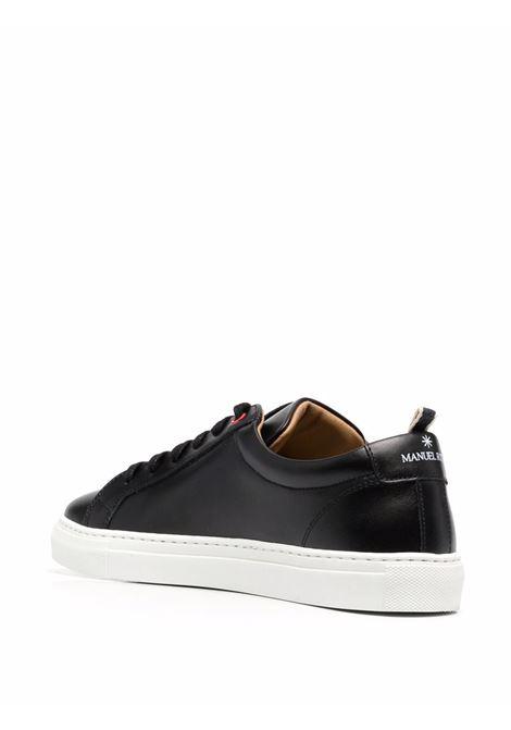 Sneakers basse in pelle nera con punta tonda MANUEL RITZ   Sneakers   3032Q510-21333099