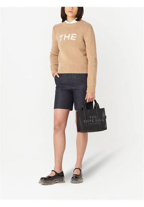 mini tote bag Traveller in pelle saffiano nera MARC JACOBS | Borse tote | H009L01SP21001