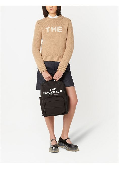 zaino The Backpack in cotone nero con logo Marc Jacobs bianco MARC JACOBS | Zaini | H301M06SP21001
