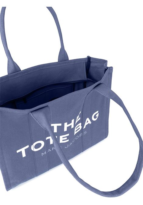 Borsa tote Traveller in cotone blu con logo bianco Marc Jacobs MARC JACOBS | Borse tote | M0016156481