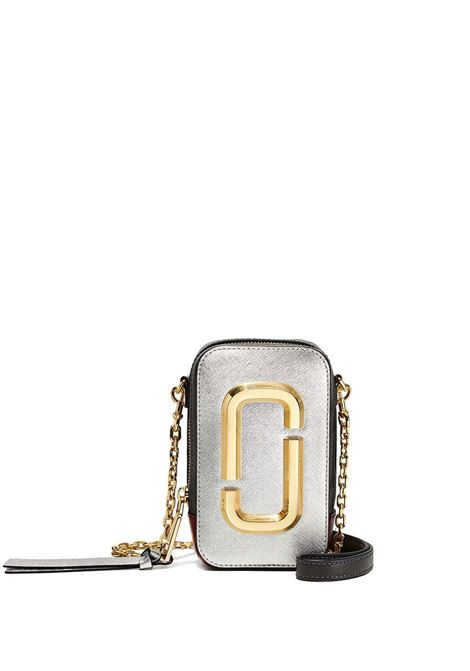 Silver and black cow leather The Hot Shot crossbody bag MARC JACOBS |  | M0016765098