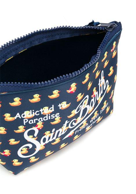 pouch in neoprene blu navy con paperelle gialle stampate e logo Mc2 MC2 | Pouch | ALINE-DUCKY61