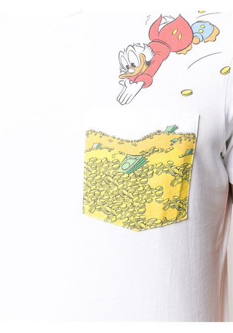 T-shirt in cotone bianco MC2 SAINT BARTH x Disney Collection MC2 | T-shirt | AUSTIN-PAPERON DE PAPERONI01