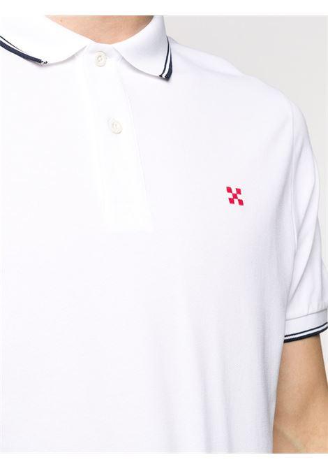 Polo Beverly Hills in cotone elasticizzato bianco MC2 | Polo | BEVERLY HILLS01