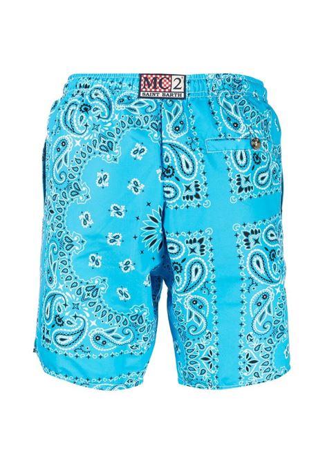 Costume da bagno blu con stampa bandana MC2 | Costumi | CAPRESE-BANDANNA ROUND3101