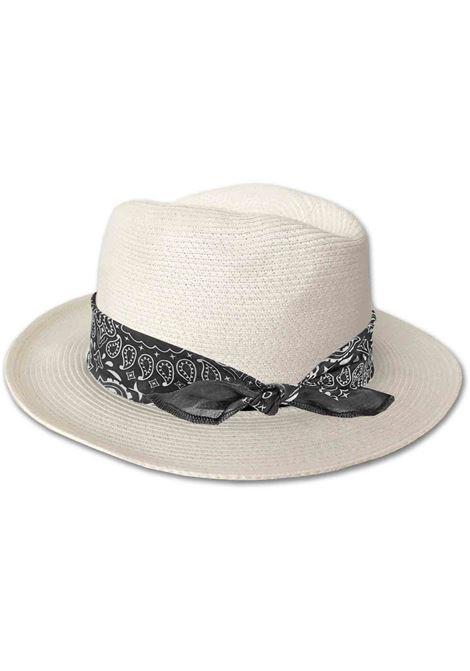 Wide-brimmed hat in ecru straw MC2 |  | CHAPEAUX-BANDANNA ROUND0001