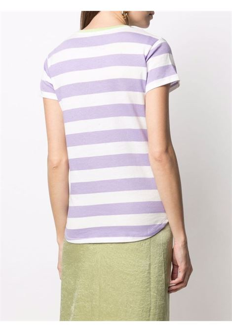 White and purple cotton Dana striped T-shirt   MC2 |  | DANA-EMB SB DREAMLIG2471