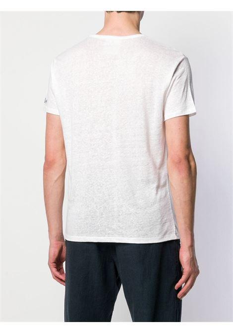 T-shirt in lino bianco con stampa grafica MC2   T-shirt   ECSTASEA-EMB CAPRI01