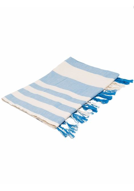 Light blue,white and red cotton striped beach towel  MC2 |  | FOUTAS LIGHT N-EMB PORTOFINO STRIPE17