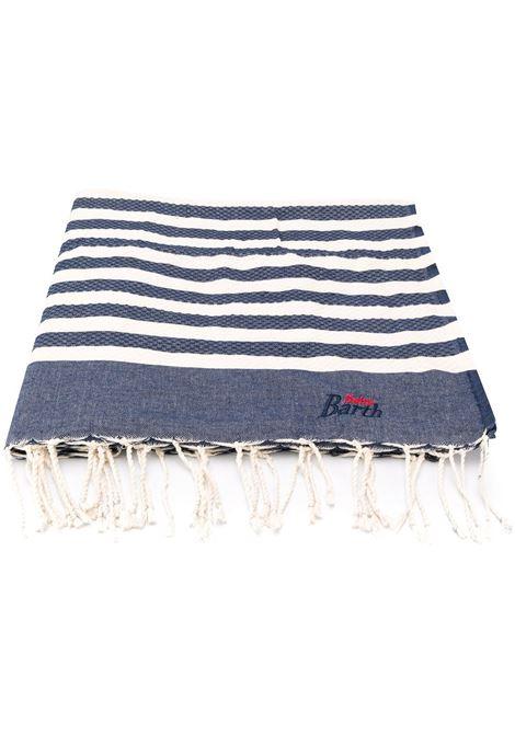 Denim blue cotton beach towel featuring a striped pattern MC2 |  | FOUTAS61