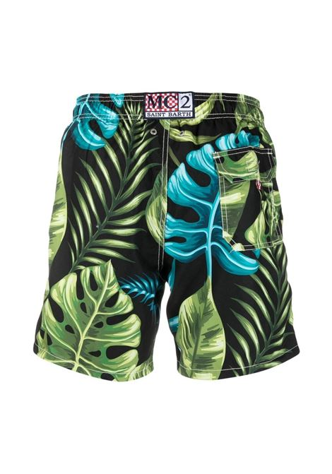Green multicolored Gustavia Leaves swimsuit  MC2 |  | GUSTAVIA-BICOLOR LEAVES00