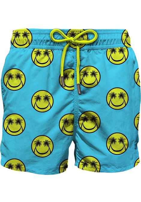 Blue recycled polyester Gustavia Palm Smile print swim shorts  MC2 |  | GUSTAVIA-PALM SMILE56
